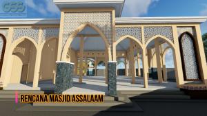 tampak samping masjid pondok modern assalaam temanggung